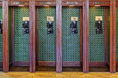 Photograph - Pay Telephone Booths In Galveston Rr Museum Dsc02907 by Greg Kluempers