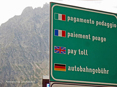 Bologna Photograph - Pay Toll Italy by Alexandros Daskalakis