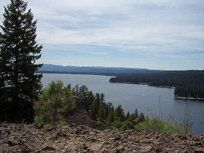 Photograph - Payette Lake From Ponderosa State Park by Georgia Hamlin