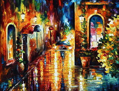 Paying A Visit New Art Print by Leonid Afremov