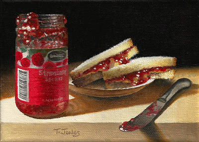 Painting - Pb And J 2 by Timothy Jones
