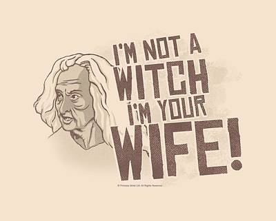 Halloween Digital Art - Pb - Not A Witch by Brand A