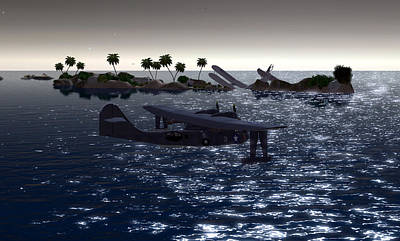 Pby In The Water Art Print