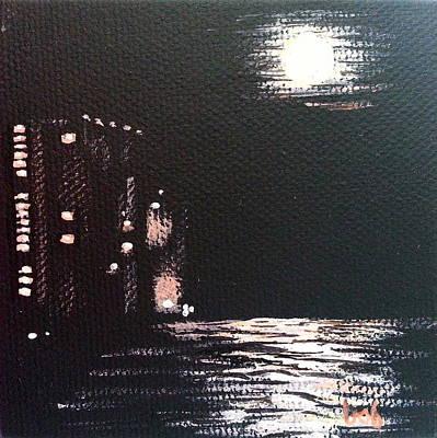 Painting - Pcb Moon by Brenda Stevens Fanning