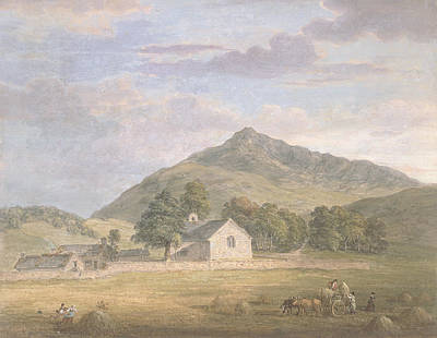 Wales Drawing - Haymaking At Dolwyddelan by Paul Sandby