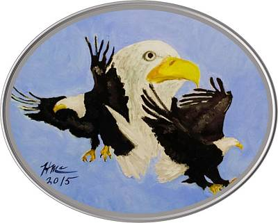 Painting - Mount Your Wings Oval by Herman McClenton