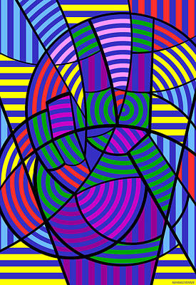 Print featuring the digital art Peace 3 Of 12 by Randall Henrie