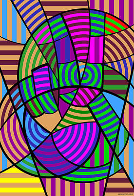 Print featuring the digital art Peace 6 Of 12 by Randall Henrie
