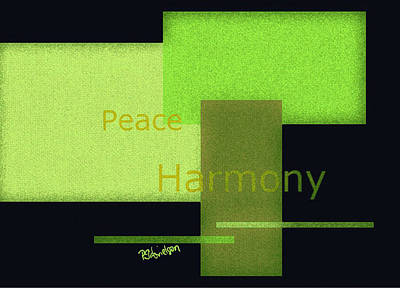 Digital Art - Peace And Harmony by Peggy Gabrielson