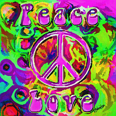 Digital Art - Peace And Love by Peggy Gabrielson