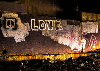 Photograph - Peace And Love Under The Bridge by Bob Orsillo