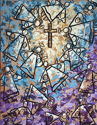 Angel Blues Painting - Peace by Anthony Falbo