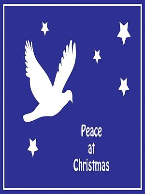 Digital Art - Peace At Christmas Greeting Card  by Taiche Acrylic Art