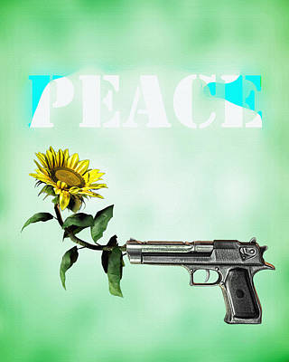 Sunflowers Digital Art - Peace  by Bob Orsillo