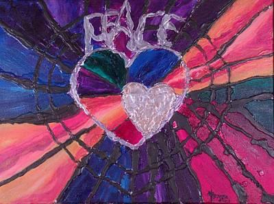 John 3.16 Painting - Peace by Christine Nichols