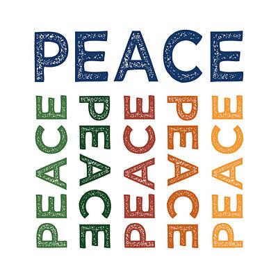 Peace Cute Colorful Art Print by Flo Karp
