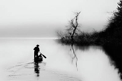 Paddler Wall Art - Photograph - Peace by Damijan Sedev?i?