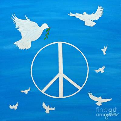 Peace Doves Original by JoNeL Art