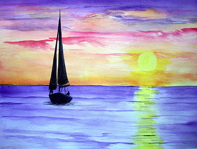 Art Print featuring the painting Peace by Ellen Canfield