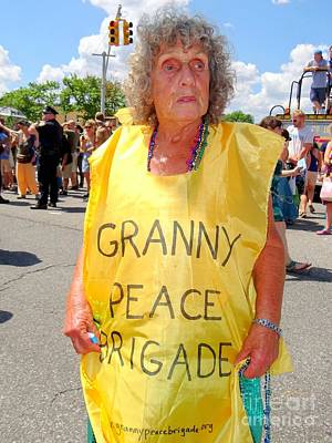 Art Print featuring the photograph Peace Granny by Ed Weidman