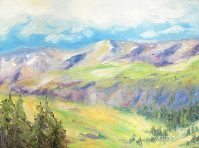 Painting - 	Peace In The Mountains				 by Barbara Anna Knauf