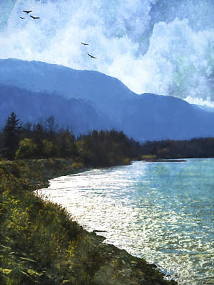 Peace In The Valley - Landscape Art Art Print