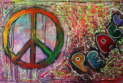 Peace Painting - Peace by Laura Barbosa