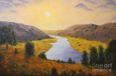 Painting - Peace Like A River by Connie Tom