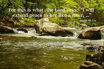Photograph - Peace Like A River by Robert Hebert