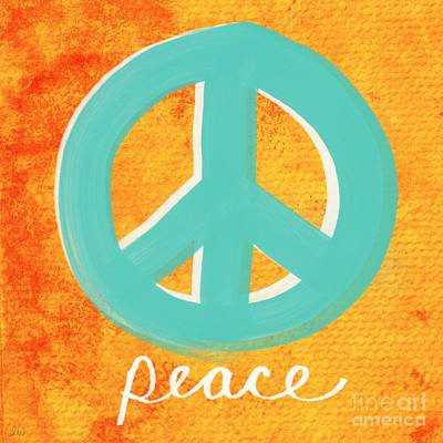 Yoga Painting - Peace by Linda Woods