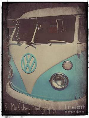 Bus Roll Photograph - Peace Love And Rock N Roll by Suzanne McKelvey