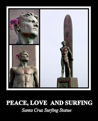 Photograph - Peace Love And Surfing by AJ  Schibig