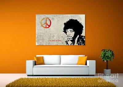 Peace Man Art Print by Andrea Kollo
