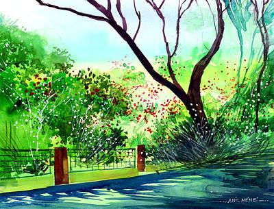 Watercolor Butterflies - Peace of mind 1 by Anil Nene