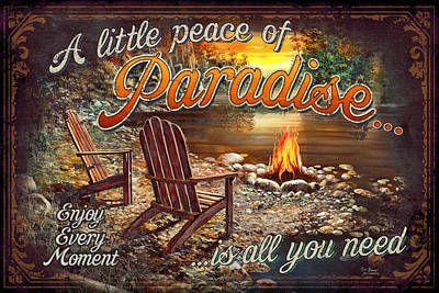Adirondacks Painting - Peace Of Paradise by JQ Licensing