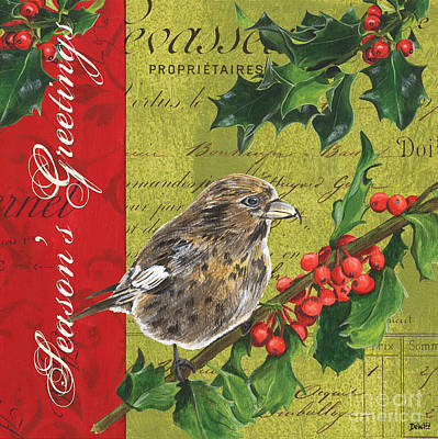 Titmouse Painting - Peace On Earth 1 by Debbie DeWitt