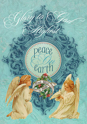 Peace On Earth Painting - Peace On Earth Angels by Tammy Apple