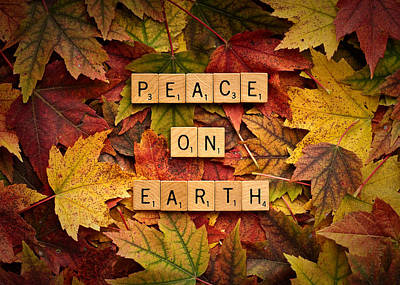 Photograph - Peace On Earth-autumn by  Onyonet  Photo Studios