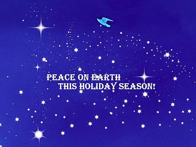 Peace On Earth Card Art Print