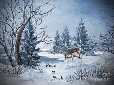 Cardinal Digital Art - Peace On Earth by Lianne Schneider