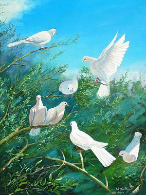 Peace On Earth Art Print by Peter Jean Caley