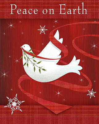 Peace Doves Painting - Peace On Earth by P.s. Art Studios