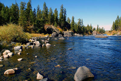 Photograph - Peace On The Spokane River 2 by Ben Upham III