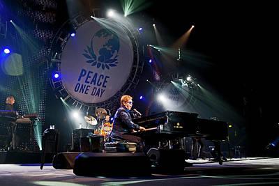 Elton John Wall Art - Photograph - Peace One Day Celebration 2012 - Global by Neil Lupin