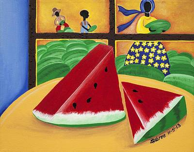 African American. Folk Art Painting - Peace by Patricia Sabree