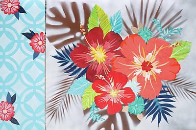 Mixed Media Florals Painting - Peace Petals by Jennifer Peck