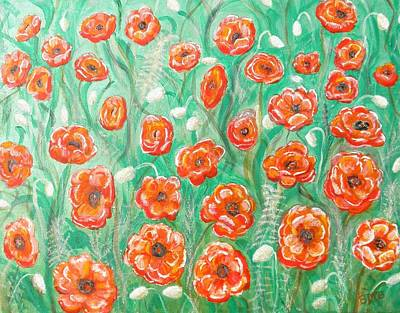 All Poppies Painting - Peace Poppies by Brenda Marie Black