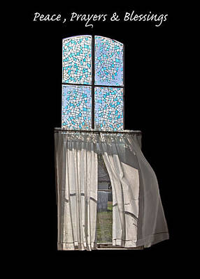 Photograph - Peace Prayers And Blessings Window by Deb Buchanan