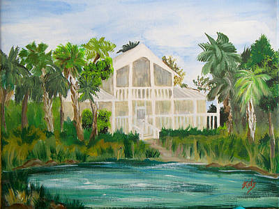 Punta Gorda Painting - Peace River Shores by Kathy Przepadlo