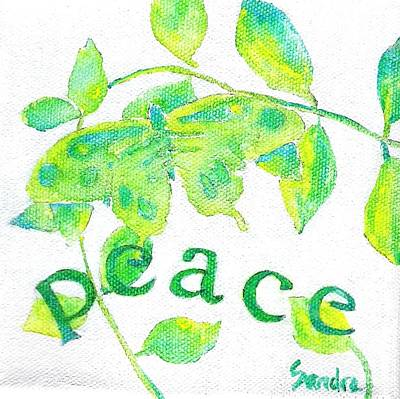 Painting - Peace by Sandra Neumann Wilderman